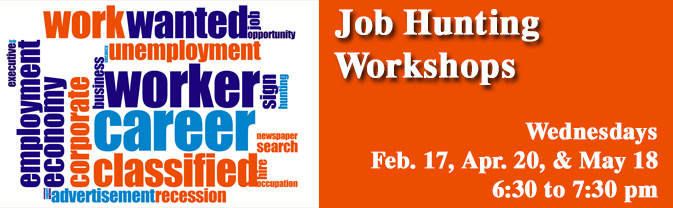 The library is offering workshops to help job seekers and career changers.