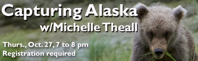 Adventure journalist and wildlife photographer Michelle Theall will share her experiences and photos at the Library.