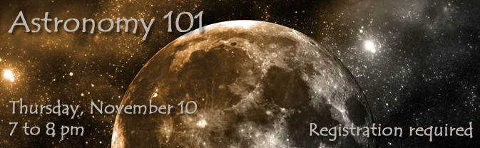 Astronomy professor Richard Koehl will bring Astronomy 101 to the Library.