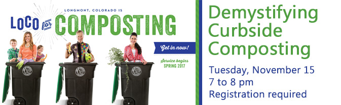 The library is partnering with the City's Public Works department to host a program explaining the new curbside composting program.