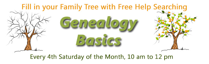 The Library is partnering with the Longmont Genealogy Society to offer monthly workshops to genealogy searchers.