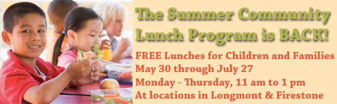 Children and families can receive free lunches 4 days per week during the summer.