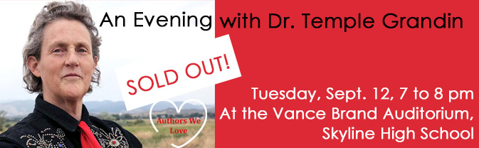 Dr. Temple Grandin will present an extraodinary program at the Library on September 12.