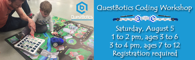 Head to the Library for a fun QuestBotics Coding Workshop!