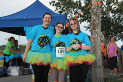 Tutu trio at Roger's River Run, Rhythm on the River
