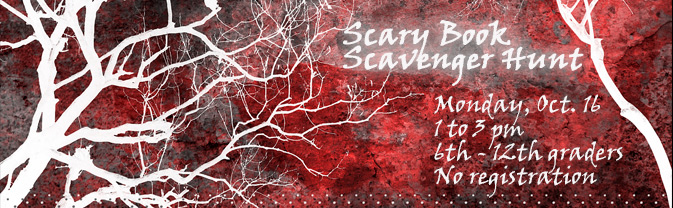Get in the spooky spirit with a scary book scavenger hunt at the Library.