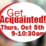 get acquainted Thursday October 5th thumbnail image