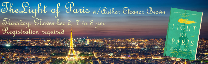 Spend an evening with best-selling author Eleanor Brown as she discusses her book