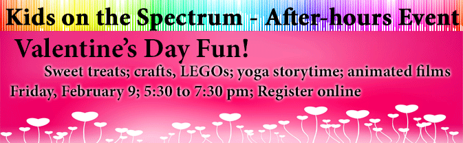 The Library is hosting a fun program for kids on the spectrum and their families.