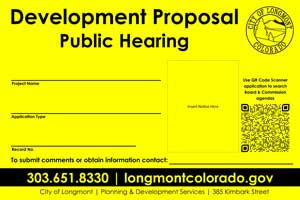Public-Hearing sign