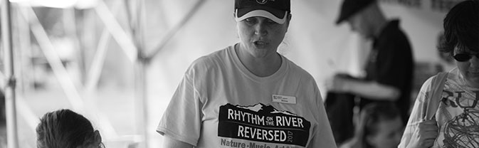 rotr_volunteer speaking at Rhythm on the River