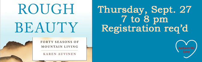 Author Karen Auvinen will be at the library to talk about her book,