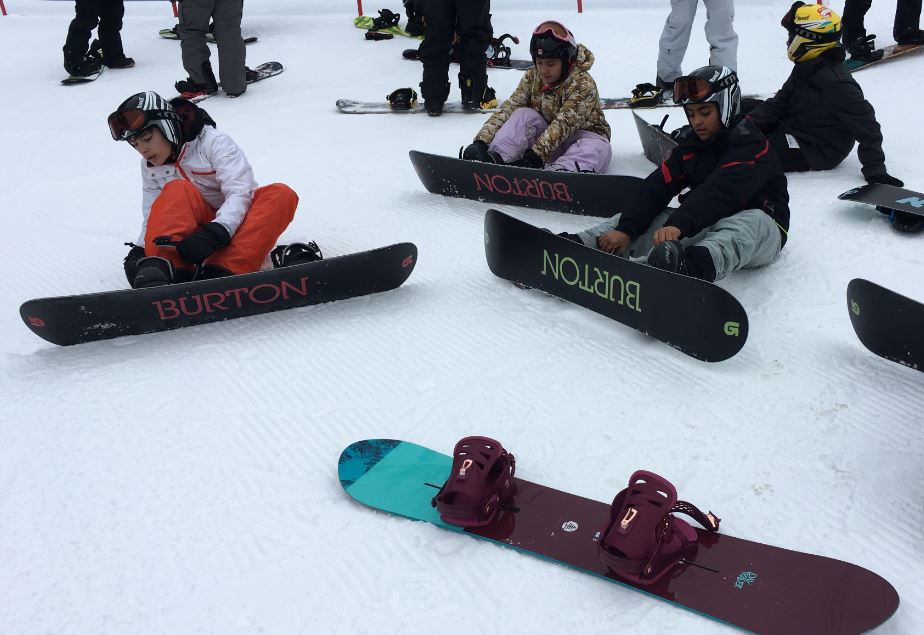 Youth Center snowboarding trip