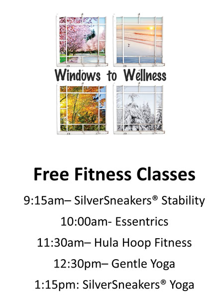 Windows to Wellness Free Fitness Class Schedule