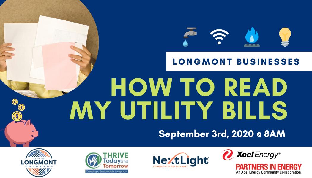 Longmont's SBP webinar: How to Read My Utility Bills