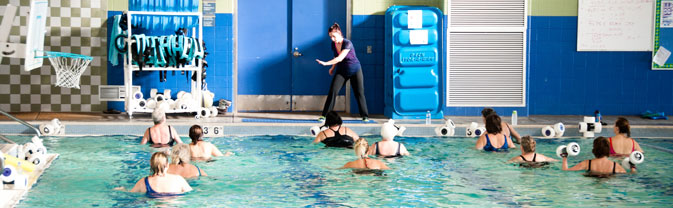 water aerobic class Longmont Recreation Center lrc