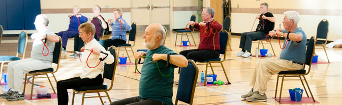 senior silversneakers chair fitness class longmont recreation center