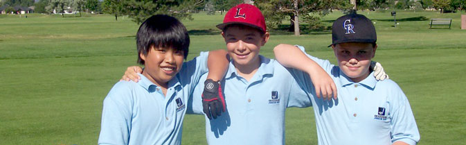 boys golf youth trio diverse