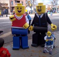 lego family halloween parade
