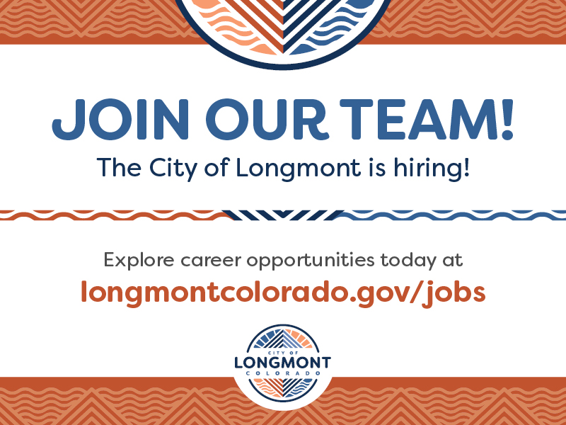 City of Longmont Job Alerts For Week of 10/31/14