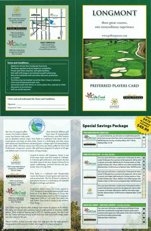 twin peaks preferred players golf card 2015