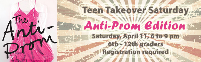The library hosts an after dark party for teens on the second Saturday of the month.