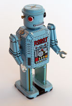 Blue tin robot