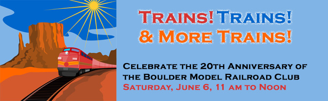The library will be celebrating the 20th anniversary of the Boulder Model Railroad Club.