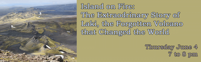 The library will present a program about the Laki volcano, which had a massive eruption in 1873.