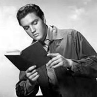 Elvis liked to read.