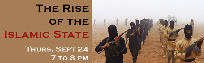 The library is hosting a program about the rise of the Islamic State.