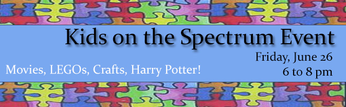The library hosts program specially designed for children on the autism spectrum and their families.