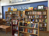 The Friends of the Longmont Library hosts a bookstore in the Library lobby.