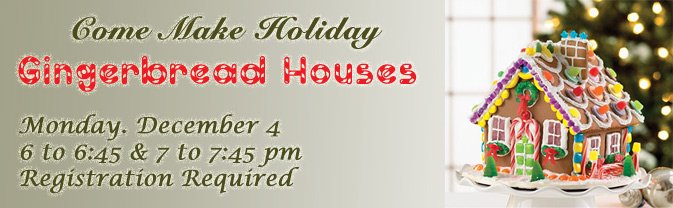 The library is hosting a gingerbread housemaking party!