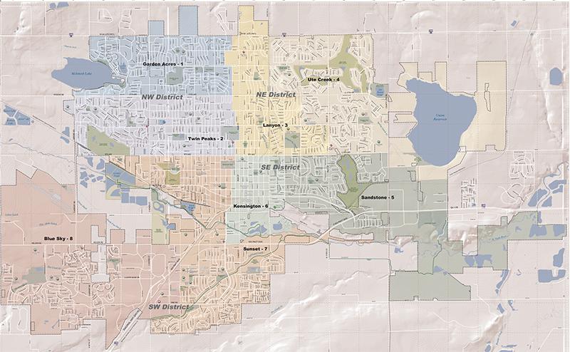 Nw Colorado Map.Beat Maps City Of Longmont Colorado