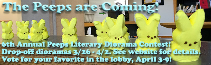 Join the fun of the annual Peeps diorama contest at the Library!