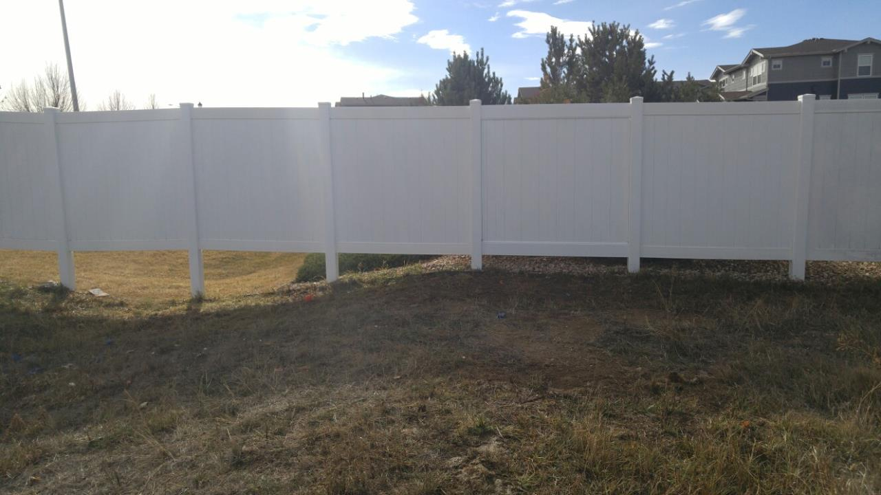 White Vinyl Fence After