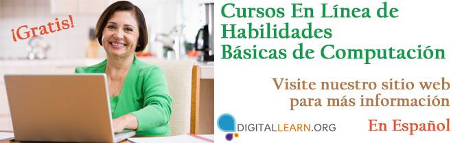 Learn basic computer skills, internet security precautions, and social media in Spanish with this free resource.