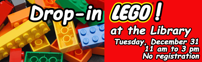 Head to the Library for an afternoon of fun with LEGOs!
