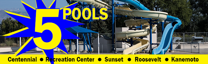 Five City of Longmont pools slider