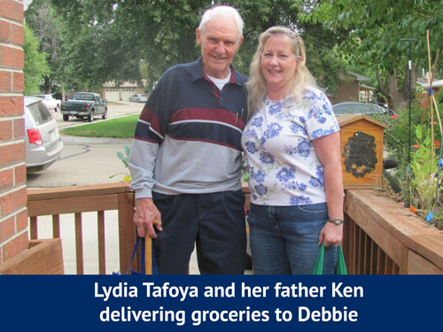 Lydia and Ken delivering groceries for Cultivate