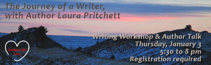 Author Laura Pritchett will be hosting a writing workshop and an author talk at the Library.