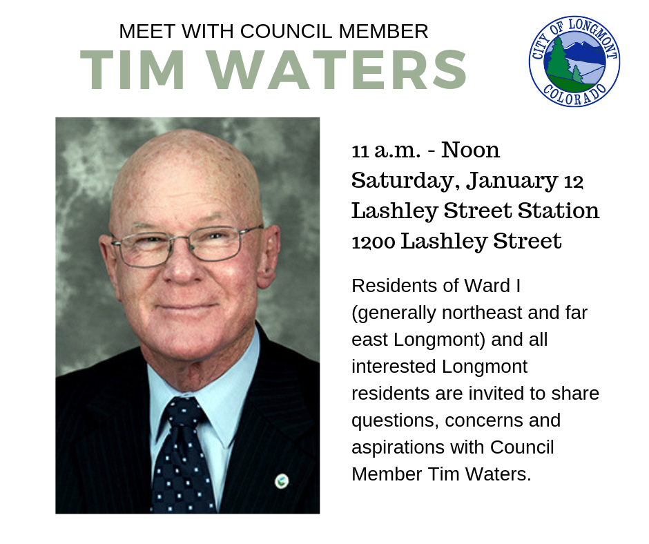 Tim Waters Ward 1 Meeting