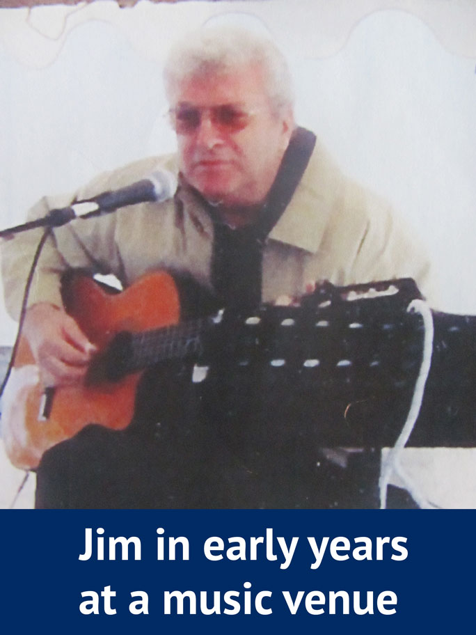 Jim Playing Guitar - Early years