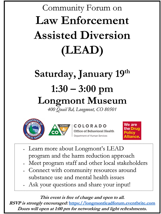 Longmont LEAD substance use mental health