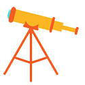 You can borrow a telescope kit from the library.