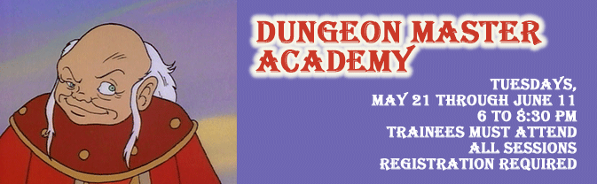 Learn how to be a dungeon master in this special class series for tweens and teens.
