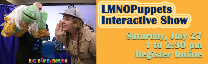 LMNOPuppets comes to the Library with an interactive puppet show!