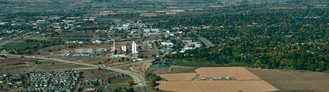 Arial view of the southeast side of Longmont