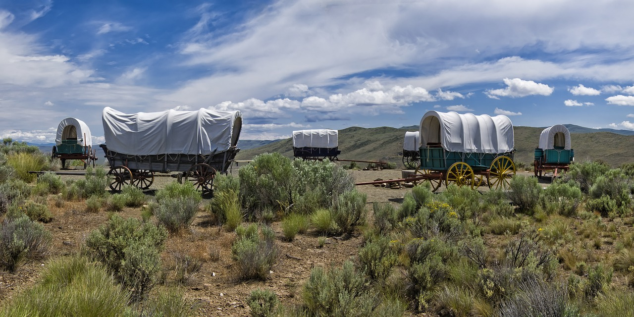 Oregon Trail wagon train